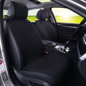 Universal Cover Jok Kursi Mobil Full Non Slip 5 Set - Black - 2