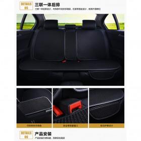 Universal Cover Jok Kursi Mobil Full Non Slip 5 Set - Black - 3