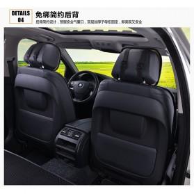 Universal Cover Jok Kursi Mobil Full Non Slip 5 Set - Black - 4