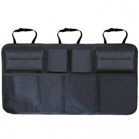 KAWOSEN Organizer Bagasi Mobil Kursi Belakang Backseat Storage Bag - OX01 - Black