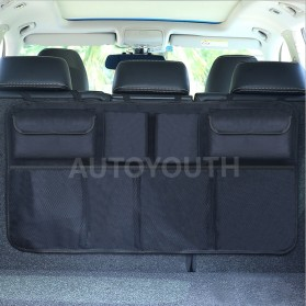 KAWOSEN Organizer Bagasi Mobil Kursi Belakang Backseat Storage Bag - OX01 - Black - 4