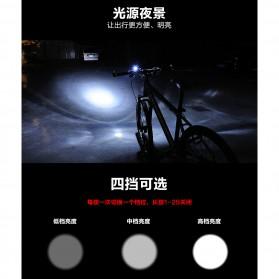 Lampu Sepeda LED USB Cree XPG2 300 Lumens Rechargeable - 300ML - Black - 6
