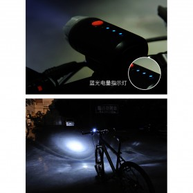 Lampu Sepeda LED USB Cree XPG2 300 Lumens Rechargeable - 300ML - Black - 7