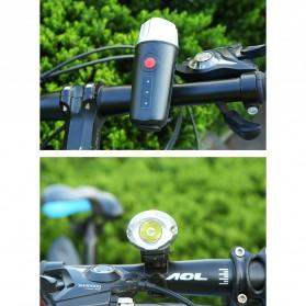 Lampu Sepeda LED USB Cree XPG2 300 Lumens Rechargeable - 300ML - Black - 8