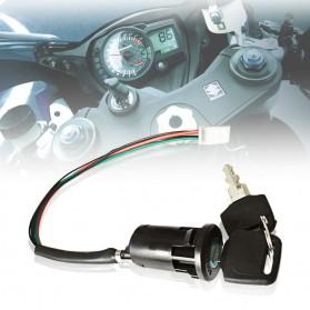 Rumah Kunci Kontak Motor Pengganti Universal - V95413 - Black