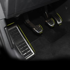Cover Pedal Gas Mobil Bahan Aluminium MT Transmission for VW - G7JTB - Black - 3