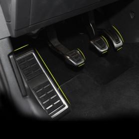 Cover Pedal Gas Mobil Bahan Aluminium AT Transmission for VW - G7JTB - Black - 3