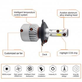 Lampu Mobil LED COB Headlight 8000LM H3 S2 Chip 2 PCS - Silver - 6