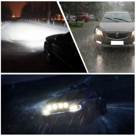 Lampu Mobil LED COB Headlight 8000LM H3 S2 Chip 2 PCS - Silver - 9