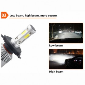 TaffLED Lampu Mobil LED COB Headlight 8000LM H11/H9/H8 S2 Chip 2 PCS - Silver - 4