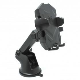 Smartphone Car Holder Telescopic Transformer Suction Cup - WQ64835 - Black