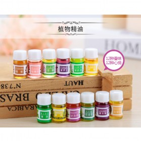 Taffware Pure Aroma Essential Fragrance Minyak Aromatherapy 12 in 1 3ml - Humi D23860