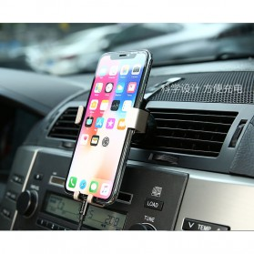 Air Vent Smartphone Holder Mobill Model Transformer 4-6 Inch - S-H01 - Gray - 10