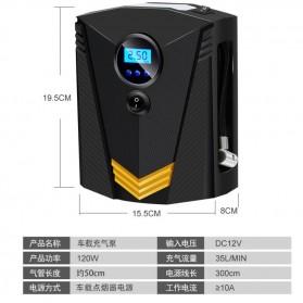 Inflator Pompa Angin Ban Mobil Car Air Compressor 120W with Tool Set - C37723 - Black - 5