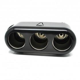CHOGUS Car Charger Cigarette Lighter Splitter 3 Socket 12V 5A with LED Indicator - BM-001 - Black - 2