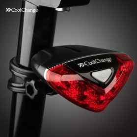 CoolChange Lampu Belakang Sepeda Super Bright Taillight - LD-208 - Black - 2