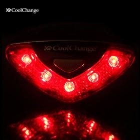 CoolChange Lampu Belakang Sepeda Super Bright Taillight - LD-208 - Black - 4