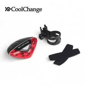 CoolChange Lampu Belakang Sepeda Super Bright Taillight - LD-208 - Black - 5