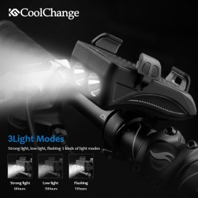 CoolChange Lampu Sepeda Rechargeable Flashlight Phone Holder Power Bank 2000mAh - FY-319 - Black - 4