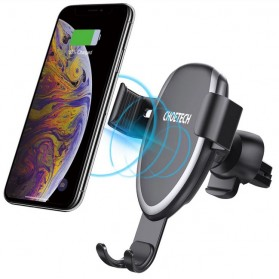 CHOECTECH Car Wireless Charger Fast Charging Air Vent Mount - T536-S - Black - 2