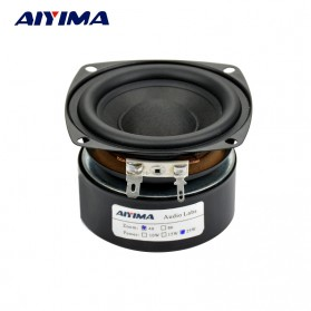 Aiyima Speaker Subwoofer Mobil HiFi 3 Inch 4Ohm 25W - A1D189A - Black