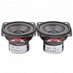 Aiyima Speaker Full Range Mobil HiFi 2 Inch 4Ohm 10W 2 PCS - A1D1310A - Black
