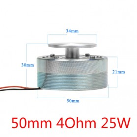 Aiyima Speaker Full Range Mobil HiFi 50mm 4Ohm 25W - A1D011B - Silver - 8