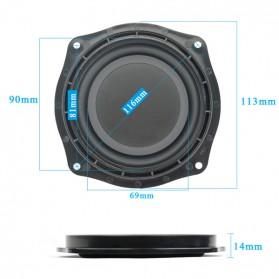 Aiyima DIY Diafragma Speaker Mobil Passive Bass Radiator Vibration 4 Inch 2 PCS - A1D176 - Black - 3