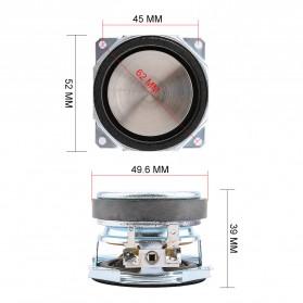 Aiyima Speaker Full Range Mobil HiFi 52mm 8Ohm 25W 2 PCS - A1D1663 - Black - 7
