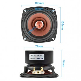 Aiyima Speaker Full Range Mobil HiFi 4 Inch 8Ohm 30W 1 PCS - A1D1307D - Black - 5