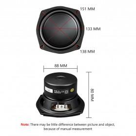 Aiyima Speaker Subwoofer Mobil HiFi 5.25 Inch 4Ohm 35W 1PCS - A1D1634A - Black - 4