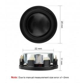 Aiyima Speaker Full Range Mobil HiFi 28mm 4Ohm 3W 2 PCS - Black - 4
