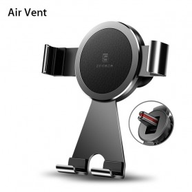 CAFELE Air Vent Smartphone Car Holder Mobil Aluminium - Black