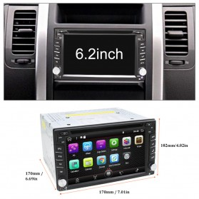 Eunavi Head Unit Mobil Android 7.1 DVD Player GPS Wifi 2/32GB - 410K - Black
