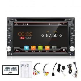 Eunavi Head Unit Mobil Android 7.1 DVD Player GPS Wifi 2/32GB - 410K - Black - 2