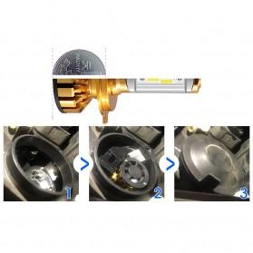 PHELENSEYE Lampu Mobil Headlight LED H4 DOB 80W 5000 Lumens 2 PCS - Golden - 4
