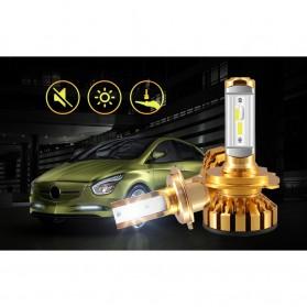 PHELENSEYE Lampu Mobil Headlight LED H4 DOB 80W 5000 Lumens 2 PCS - Golden - 5