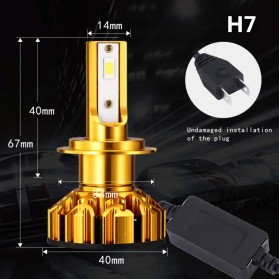 Mobil - NightTech Lampu Mobil Headlight LED H7 CSP 2 PCS - Golden