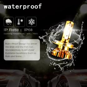 NightTech Lampu Mobil Headlight LED H7 CSP 2 PCS - Golden - 4