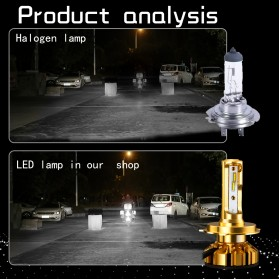 NightTech Lampu Mobil Headlight LED 9005 CSP 2 PCS - Golden - 8