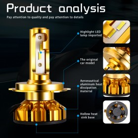 NightTech Lampu Mobil Headlight LED H11 CSP 2 PCS - Golden - 3