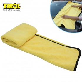 Tirol Handuk Microfiber Lap Pengering Mobil XL 92 x 56 cm - T22453 - Yellow
