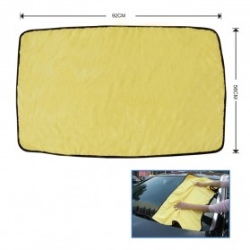 Tirol Handuk Microfiber Lap Pengering Mobil XL 92 x 56 cm - T22453 - Yellow - 6