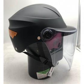 Helm Motor Full Face & Helm Motor Half Face - Nuoman Helm Sepeda Skuter Motor Elektrik Half Face - 302 - Black