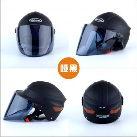 Nuoman Helm Sepeda Skuter Motor Elektrik Half Face - 302 - Black - 4
