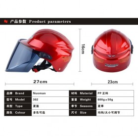 Nuoman Helm Sepeda Skuter Motor Elektrik Half Face - 302 - Black - 5