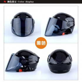 Nuoman Helm Sepeda Skuter Motor Elektrik Half Face - 316 - Black - 3