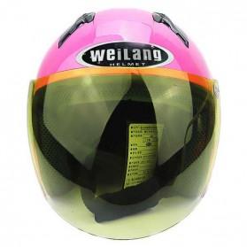 Weilang Helm Sepeda Motor Half Face Size M - Black - 2
