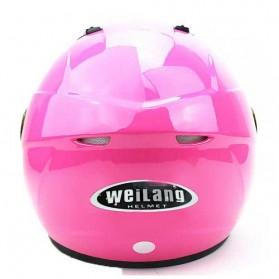 Weilang Helm Sepeda Motor Half Face Size M - Black - 3