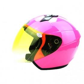 Weilang Helm Sepeda Motor Half Face Size M - Black - 4
